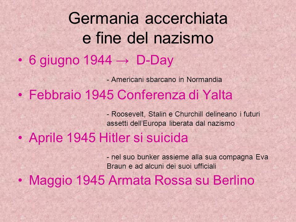Germania accerchiata e fine del nazismo