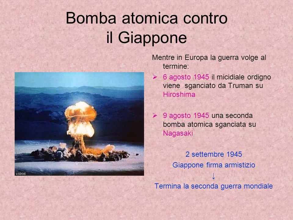 Bomba atomica contro il Giappone