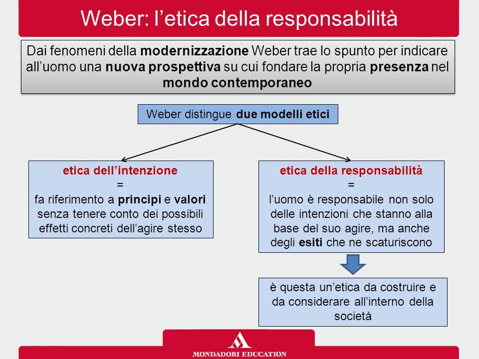 etica dell'intenzione etica della responsabilità
