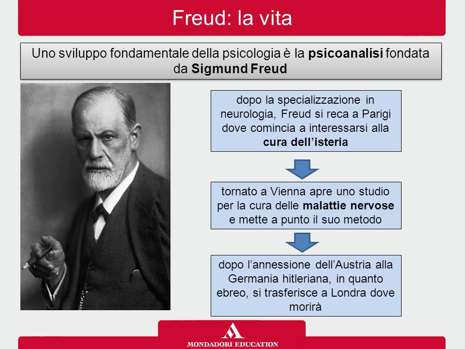 Freud: la vita Uno sviluppo fondamentale della psicologia è la psicoanalisi fondata da Sigmund Freud.
