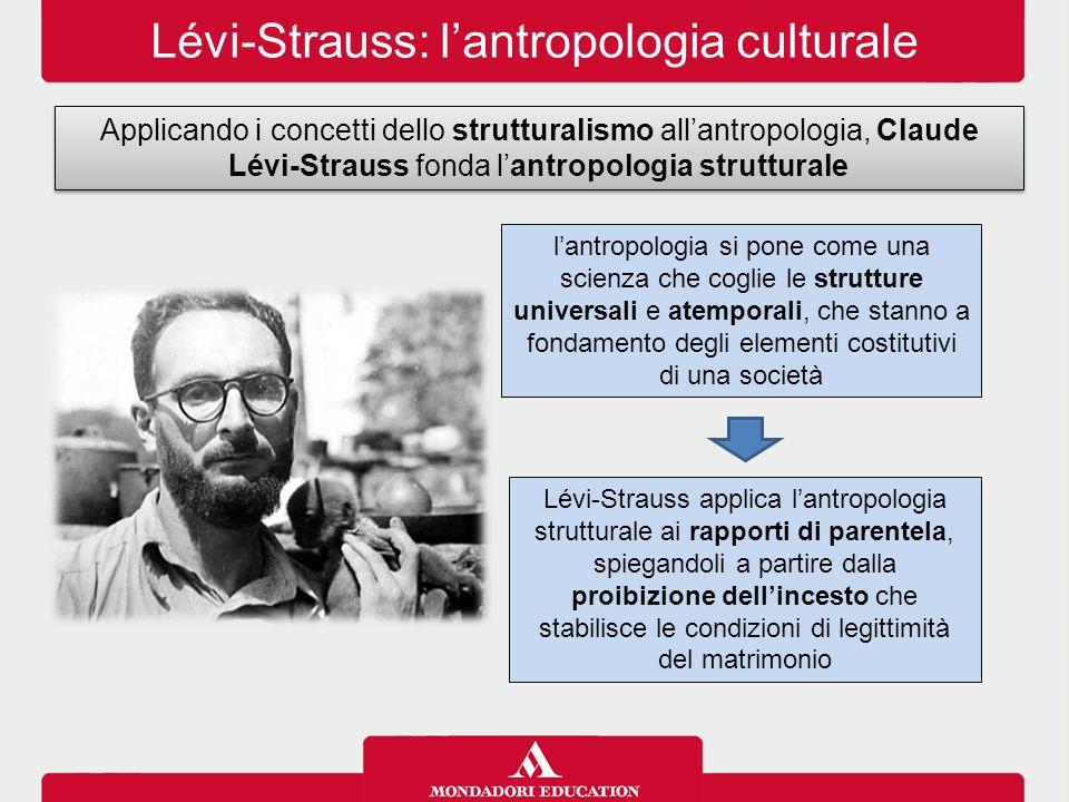 Lévi-Strauss: l'antropologia culturale