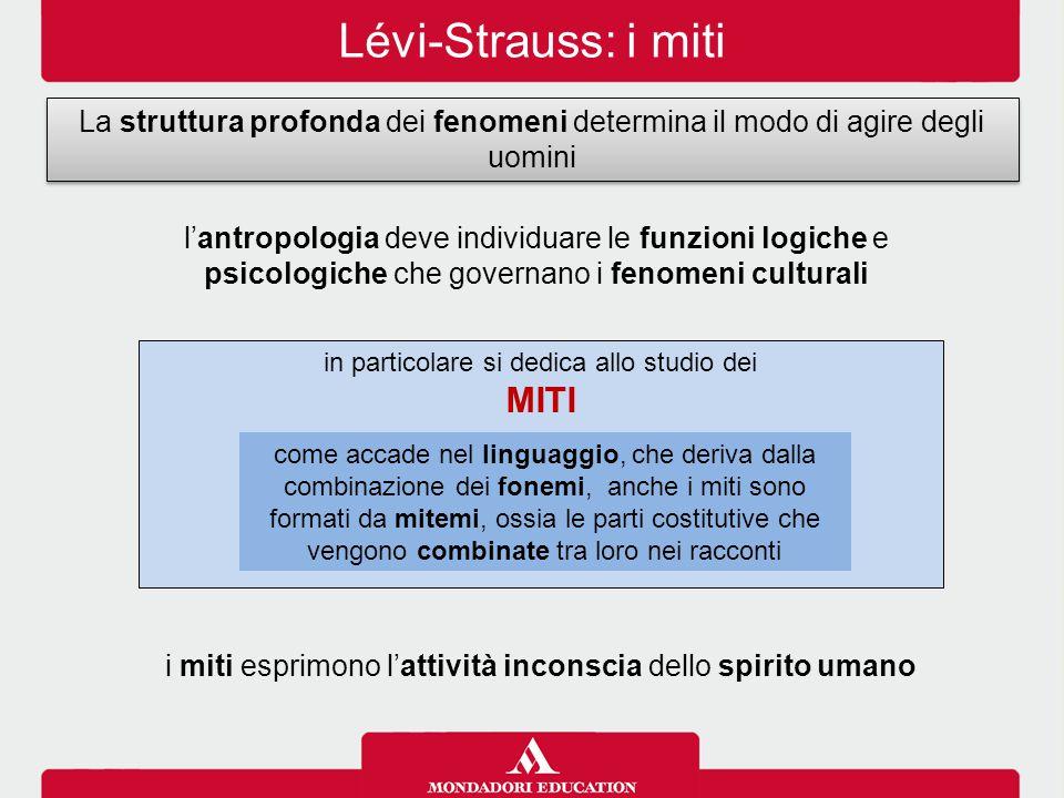 Lévi-Strauss: i miti Miti