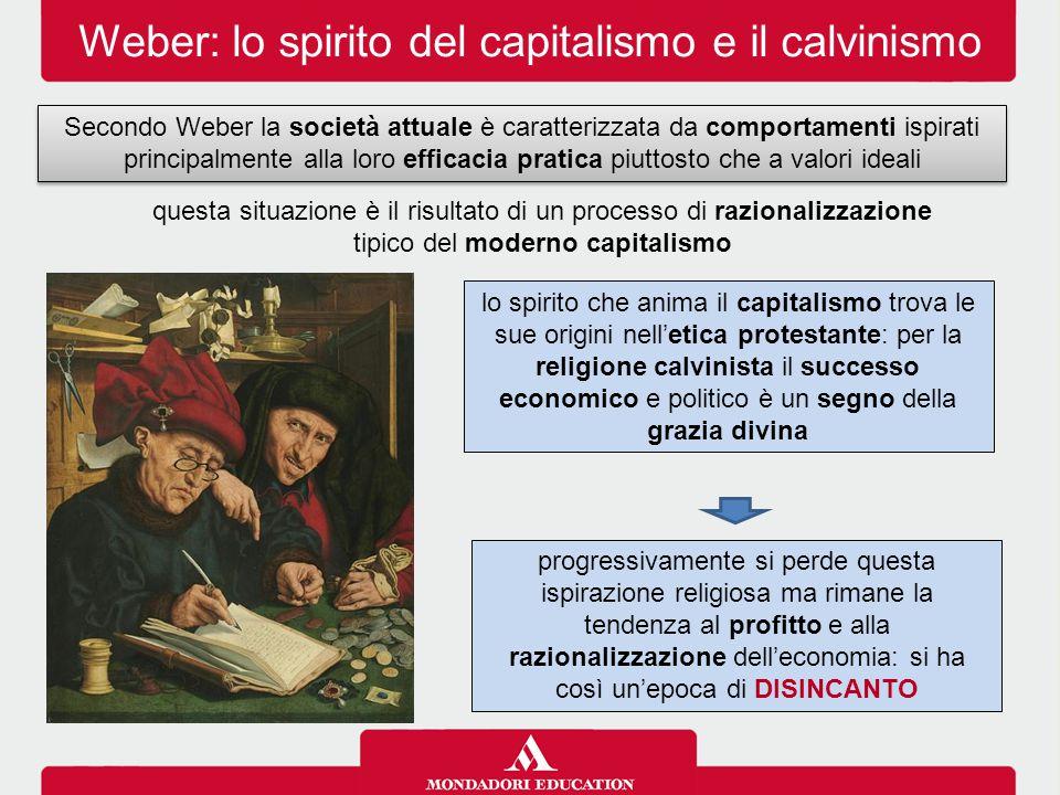 Weber: lo spirito del capitalismo e il calvinismo