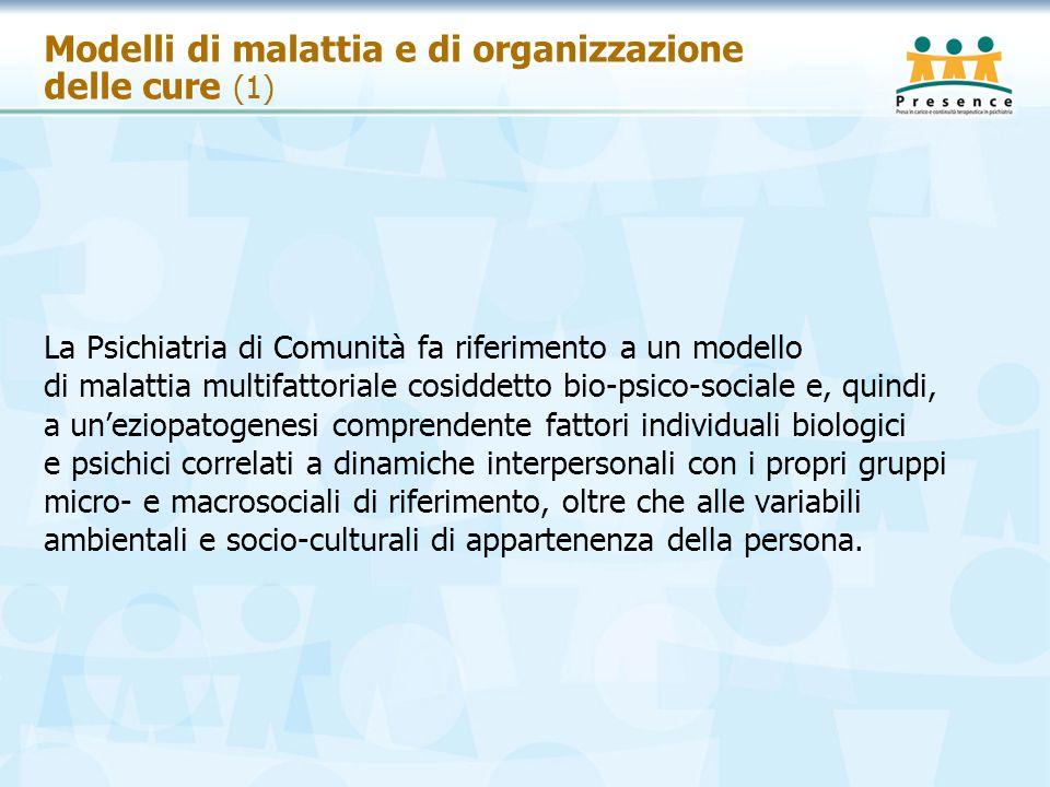 Modelli di malattia e di organizzazione delle cure (1)
