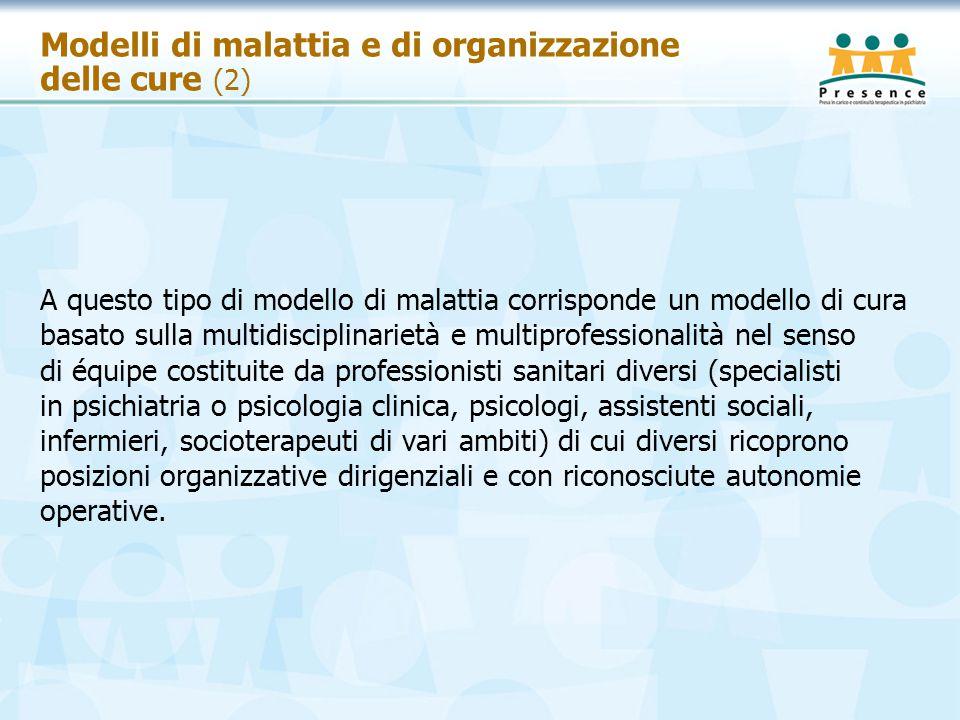 Modelli di malattia e di organizzazione delle cure (2)