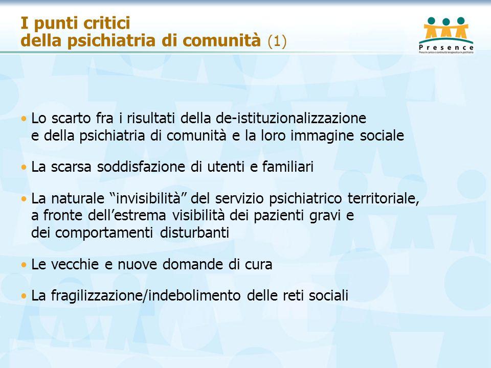 I punti critici della psichiatria di comunità (1)