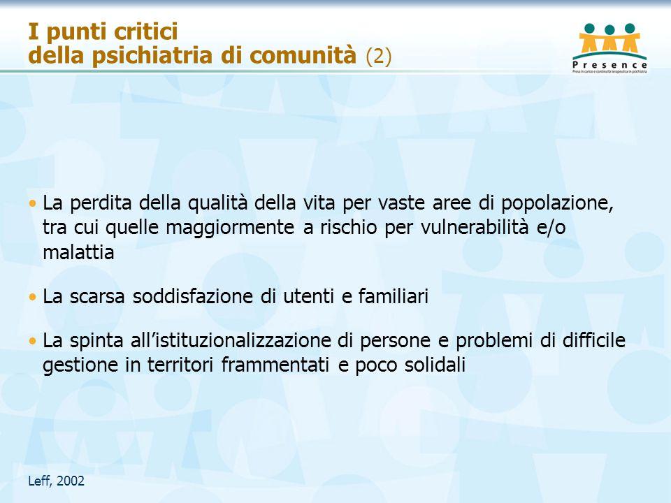 I punti critici della psichiatria di comunità (2)