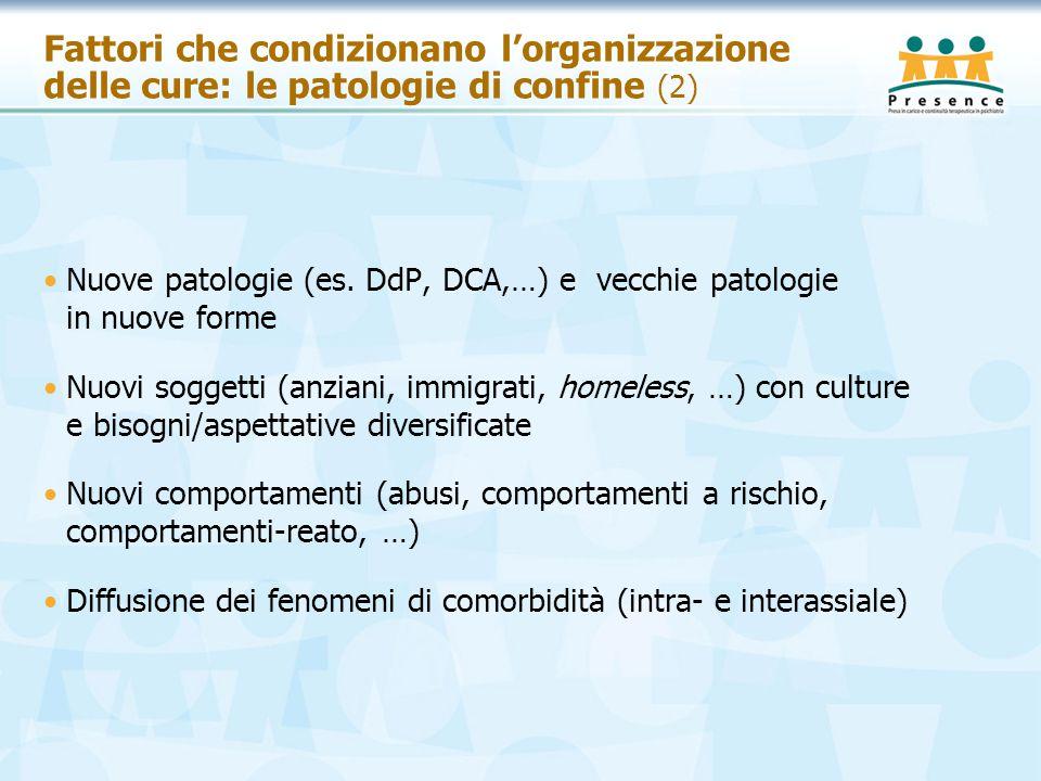 Fattori che condizionano l'organizzazione delle cure: le patologie di confine (2)