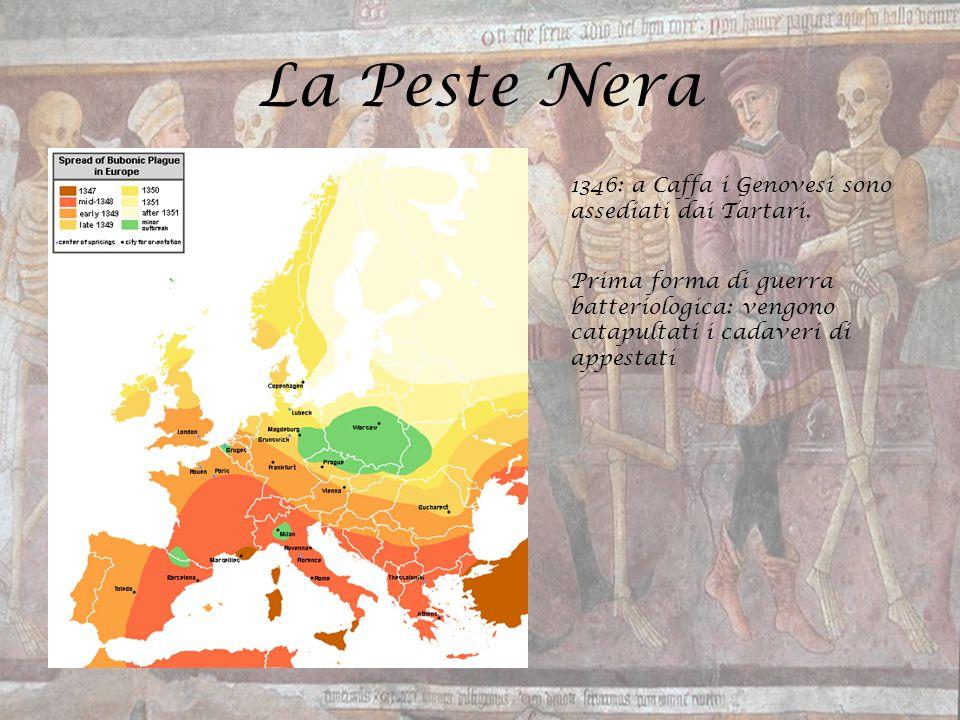La Peste Nera 1346: a Caffa i Genovesi sono assediati dai Tartari.