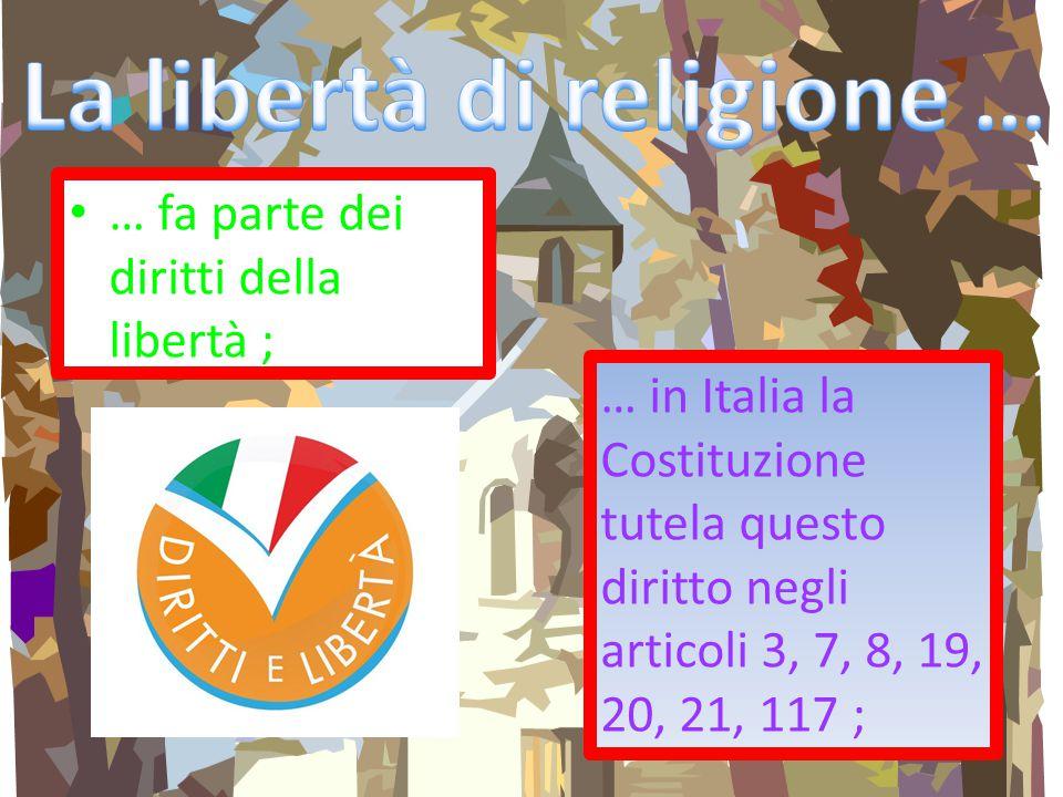 La libertà di religione …