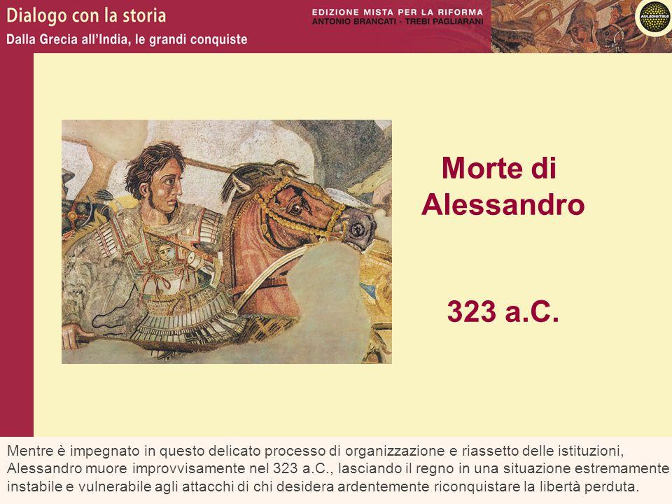 Morte di Alessandro. 323 a.C.