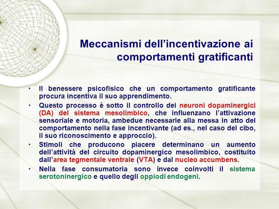 Meccanismi dell'incentivazione ai comportamenti gratificanti