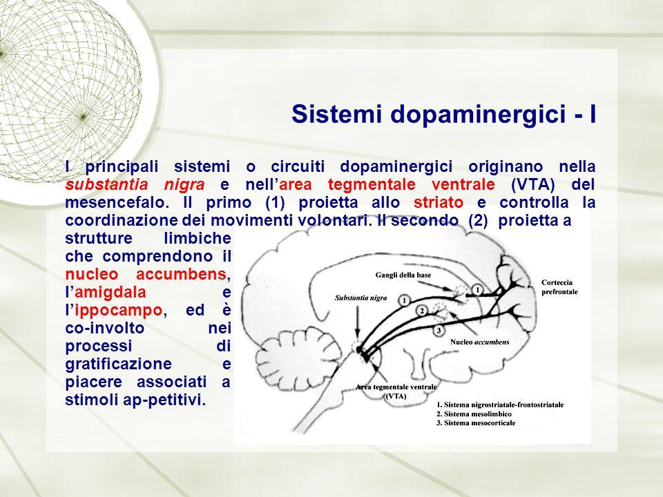 Sistemi dopaminergici - I