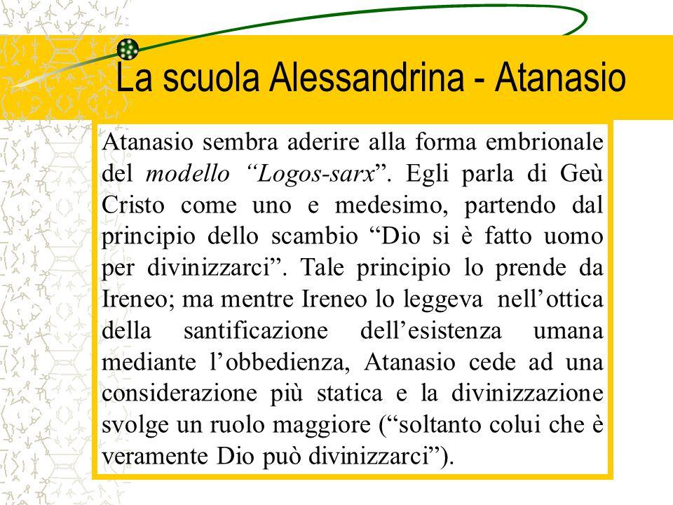 La scuola Alessandrina - Atanasio