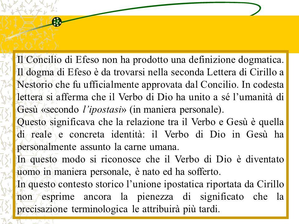 Il Concilio di Efeso non ha prodotto una definizione dogmatica