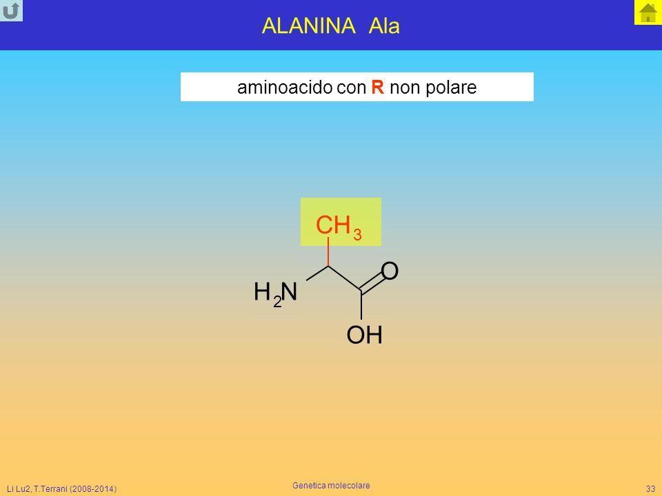 aminoacido con R non polare