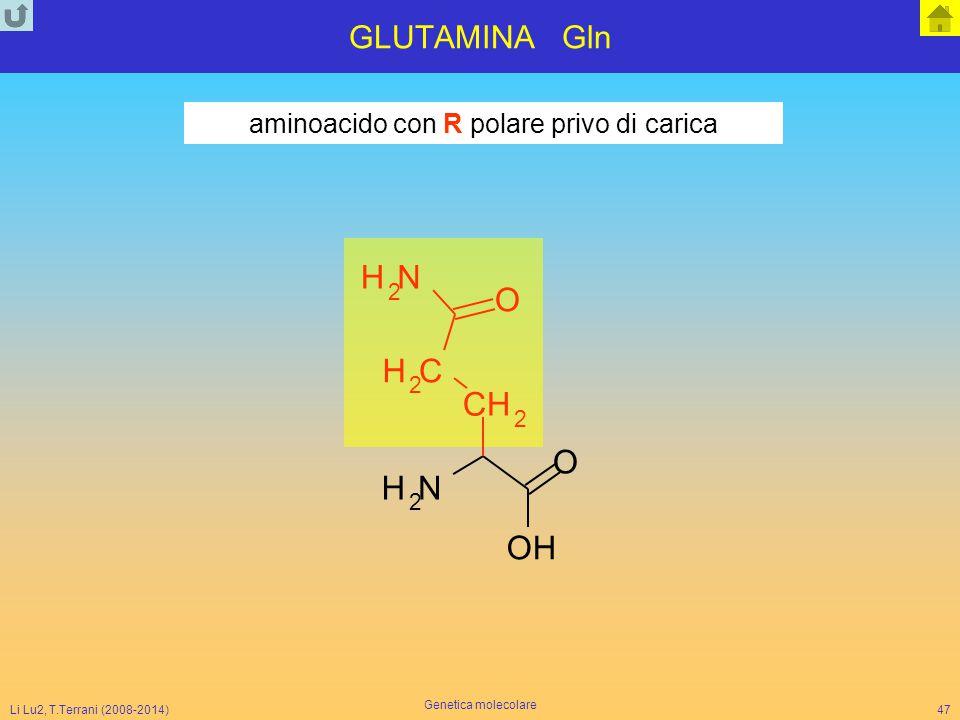 aminoacido con R polare privo di carica