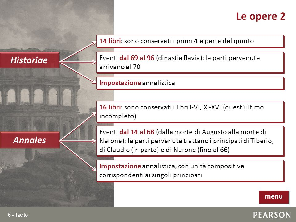 Le opere 2 Historiae Annales