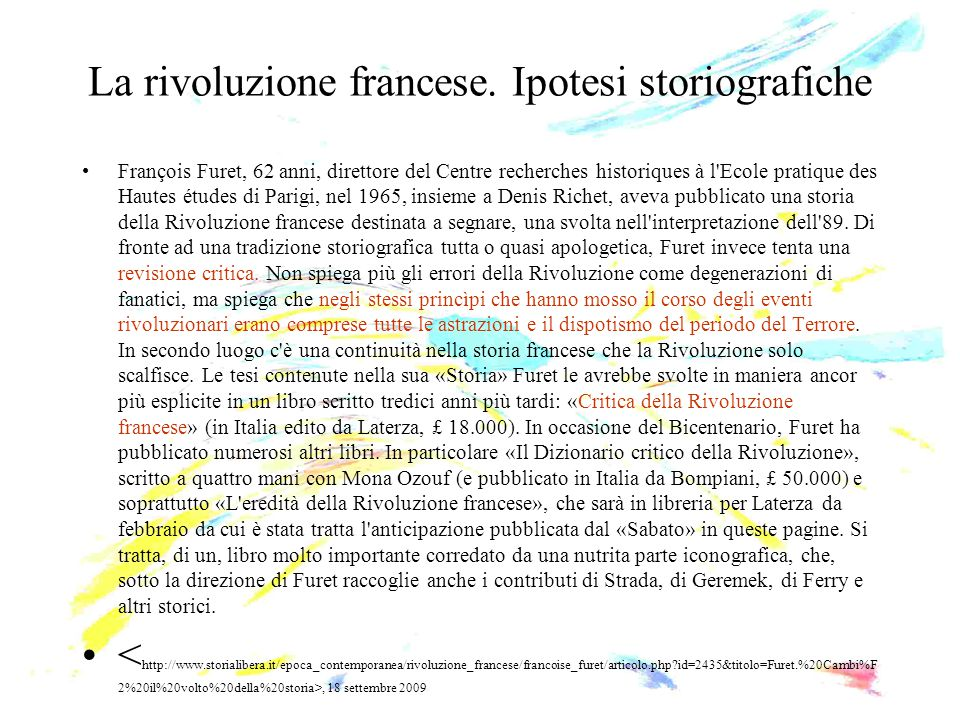 La rivoluzione francese. Ipotesi storiografiche