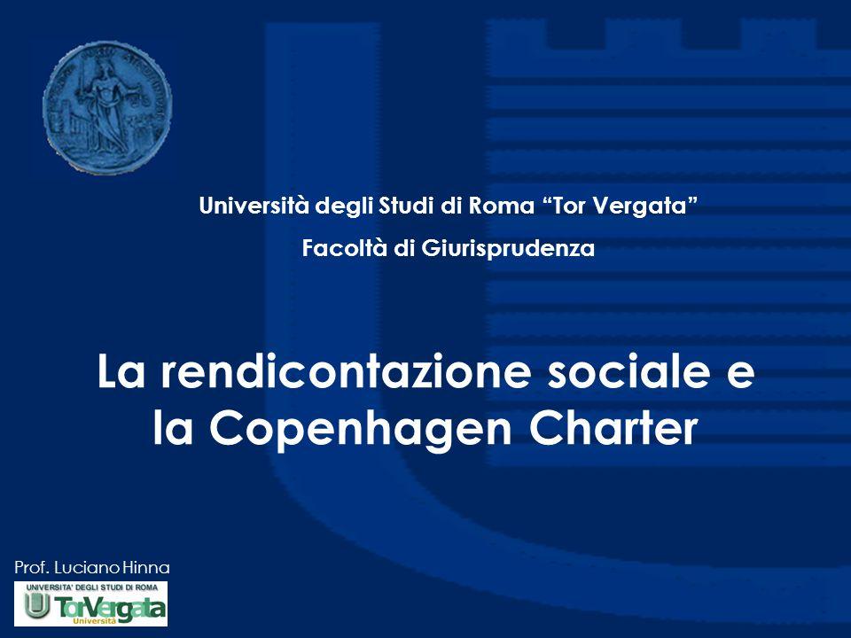 La rendicontazione sociale e la Copenhagen Charter