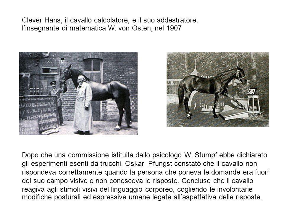 Clever Hans, il cavallo calcolatore, e il suo addestratore, l'insegnante di matematica W. von Osten, nel 1907