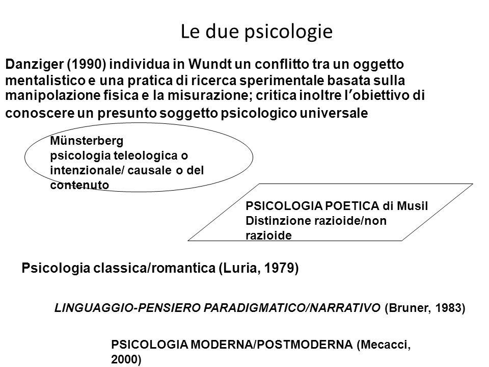 Le due psicologie