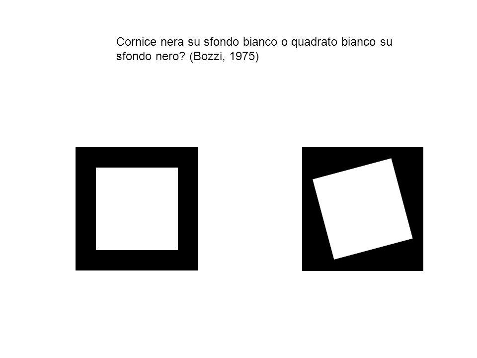 Cornice nera su sfondo bianco o quadrato bianco su sfondo nero