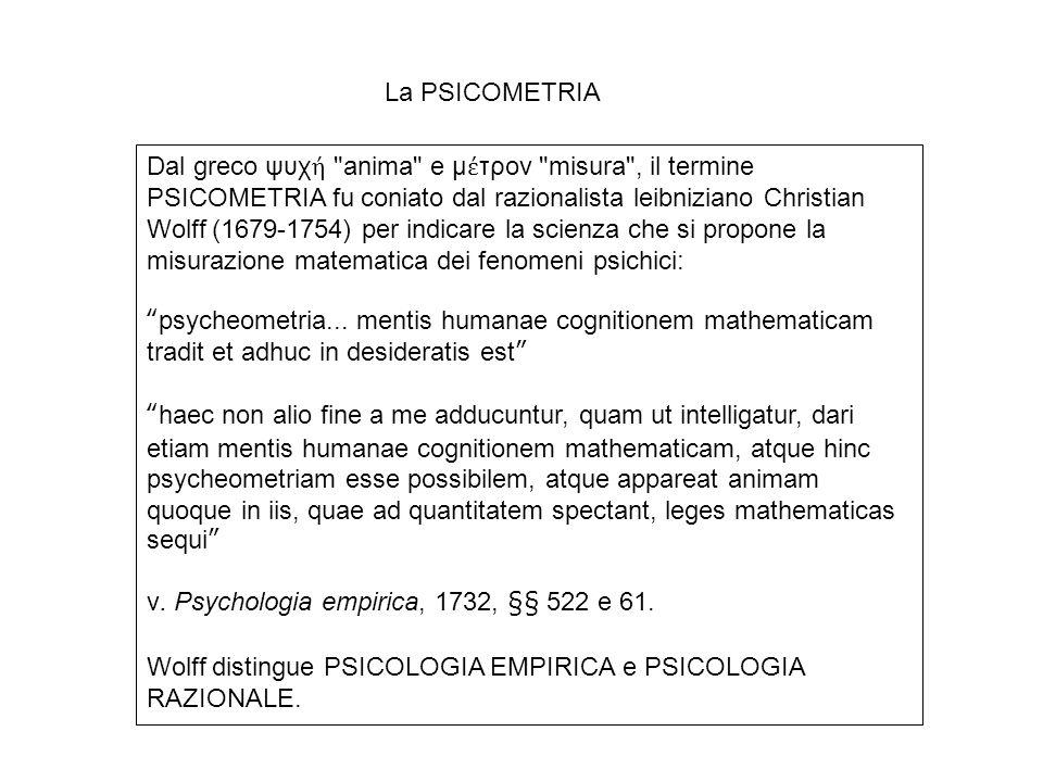 La PSICOMETRIA