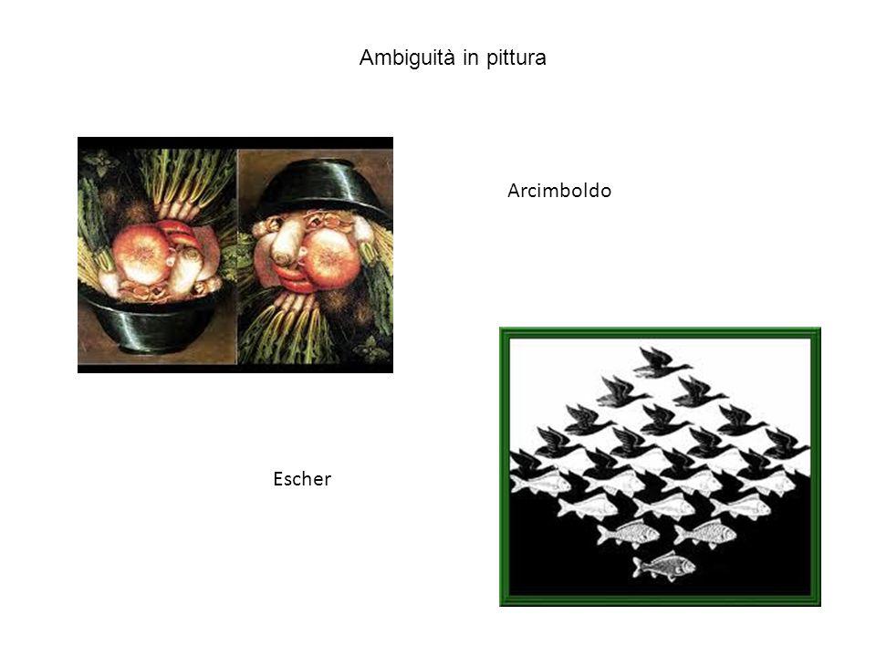 Ambiguità in pittura Arcimboldo Escher