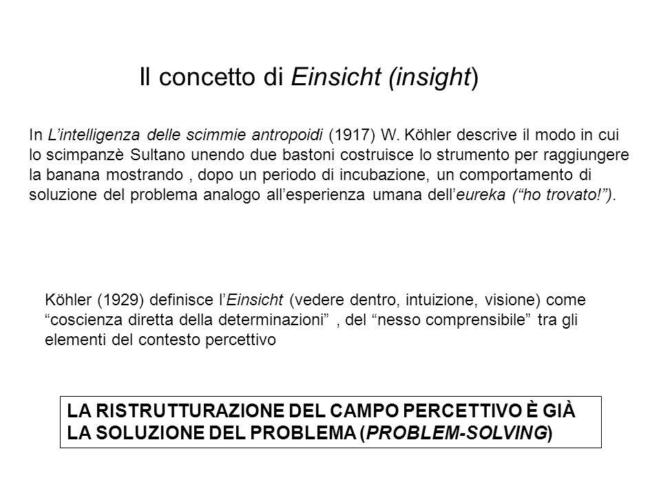 Il concetto di Einsicht (insight)