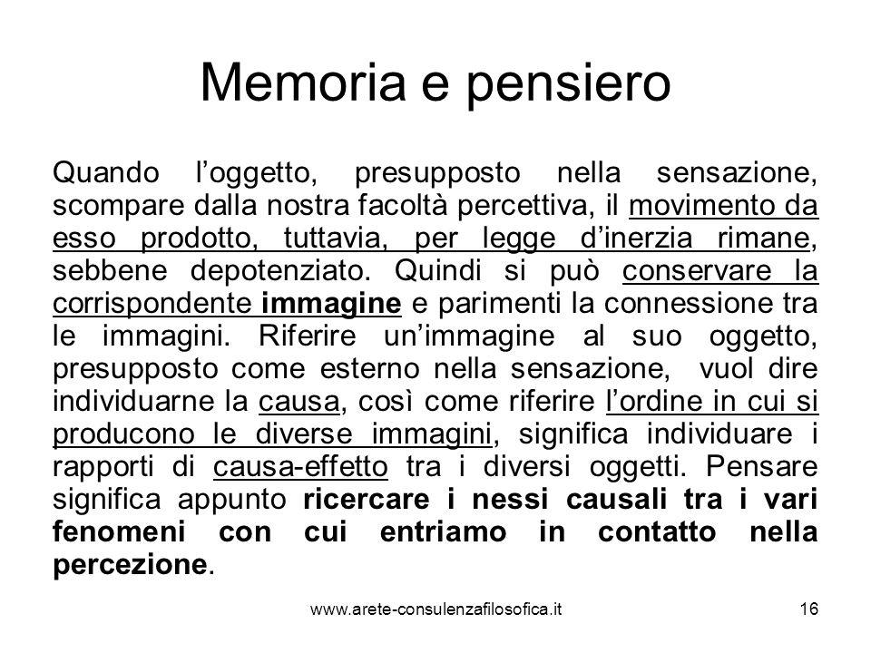 Memoria e pensiero