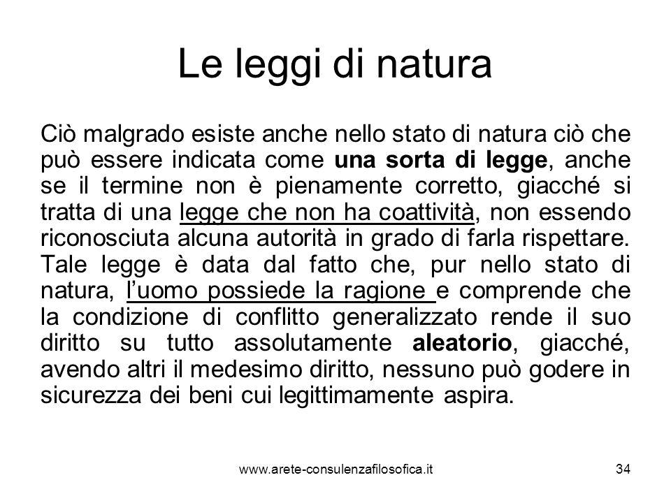 Le leggi di natura