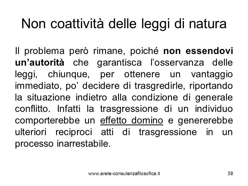 Non coattività delle leggi di natura