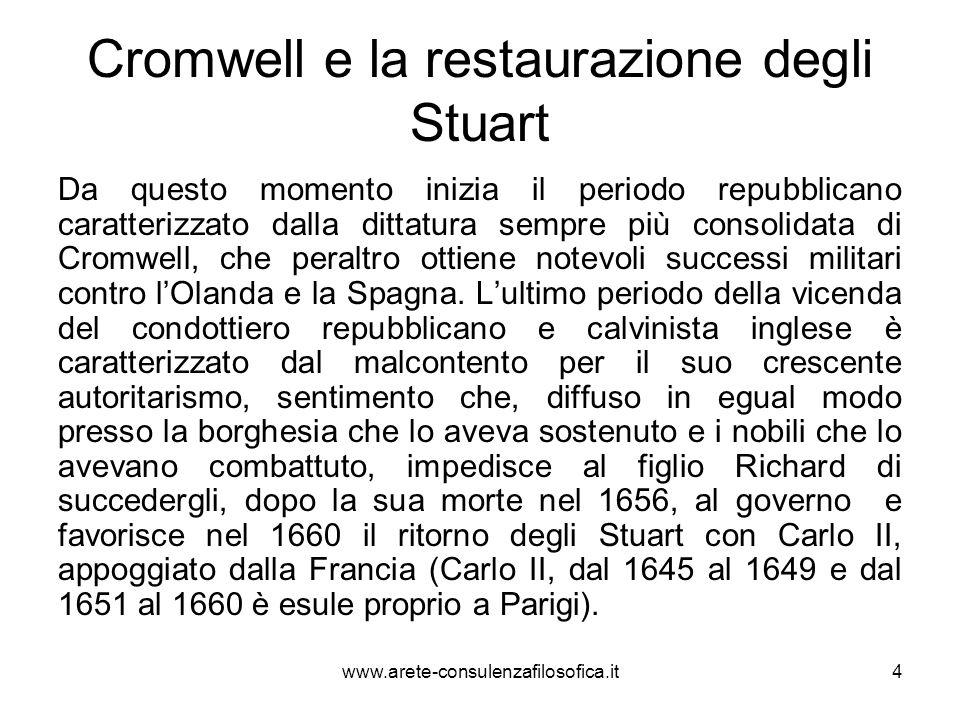Cromwell e la restaurazione degli Stuart