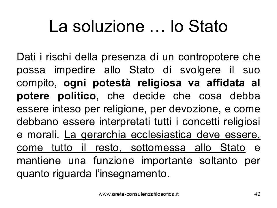 La soluzione … lo Stato