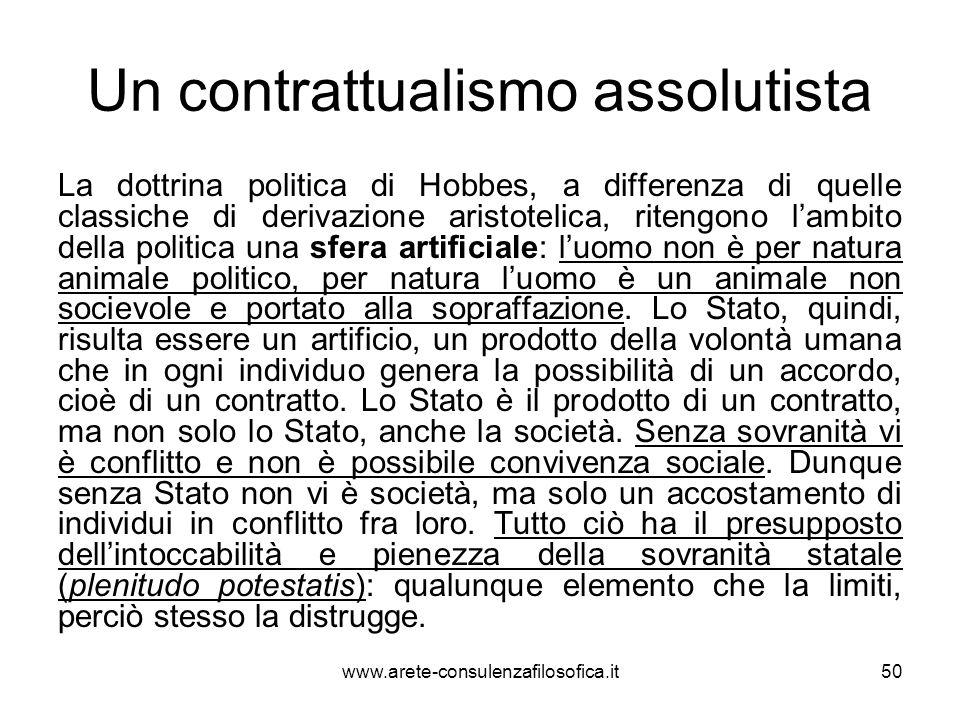 Un contrattualismo assolutista