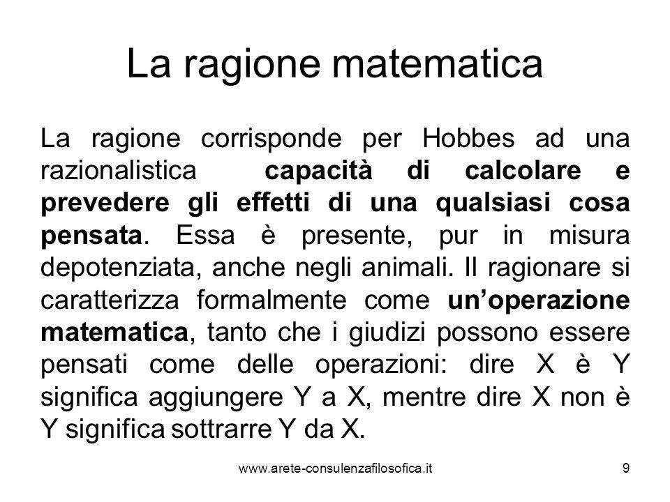 La ragione matematica