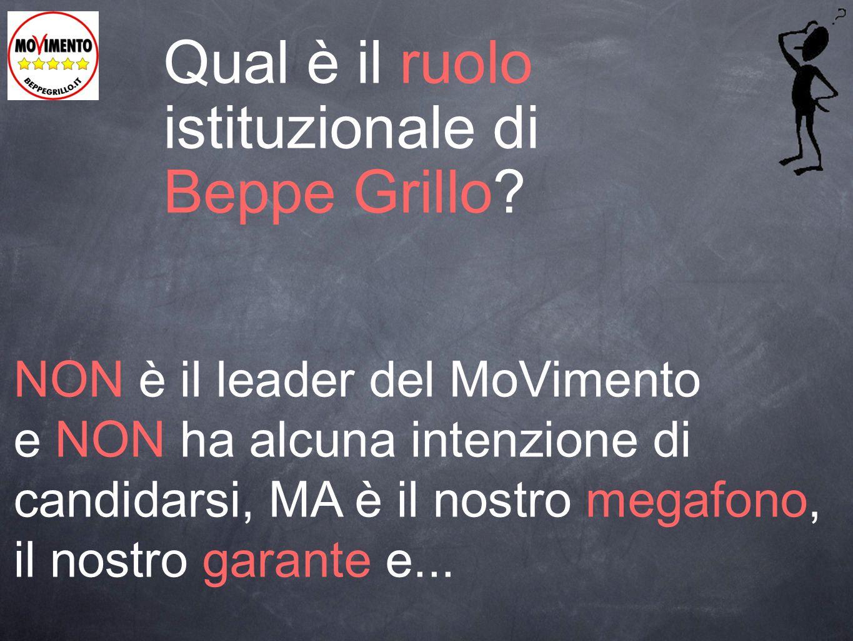 Qual è il ruolo istituzionale di Beppe Grillo