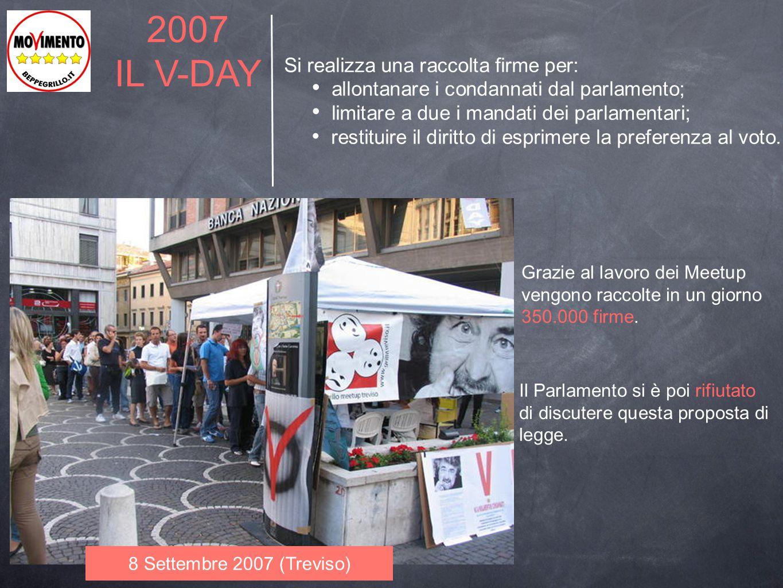 2007 IL V-DAY Si realizza una raccolta firme per: