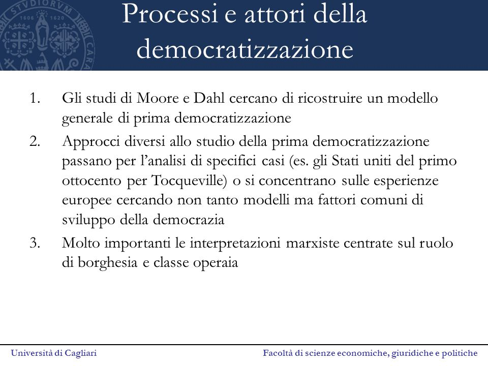 Processi e attori della democratizzazione