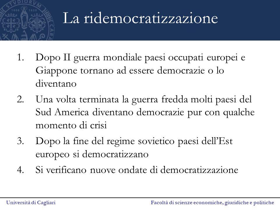 La ridemocratizzazione