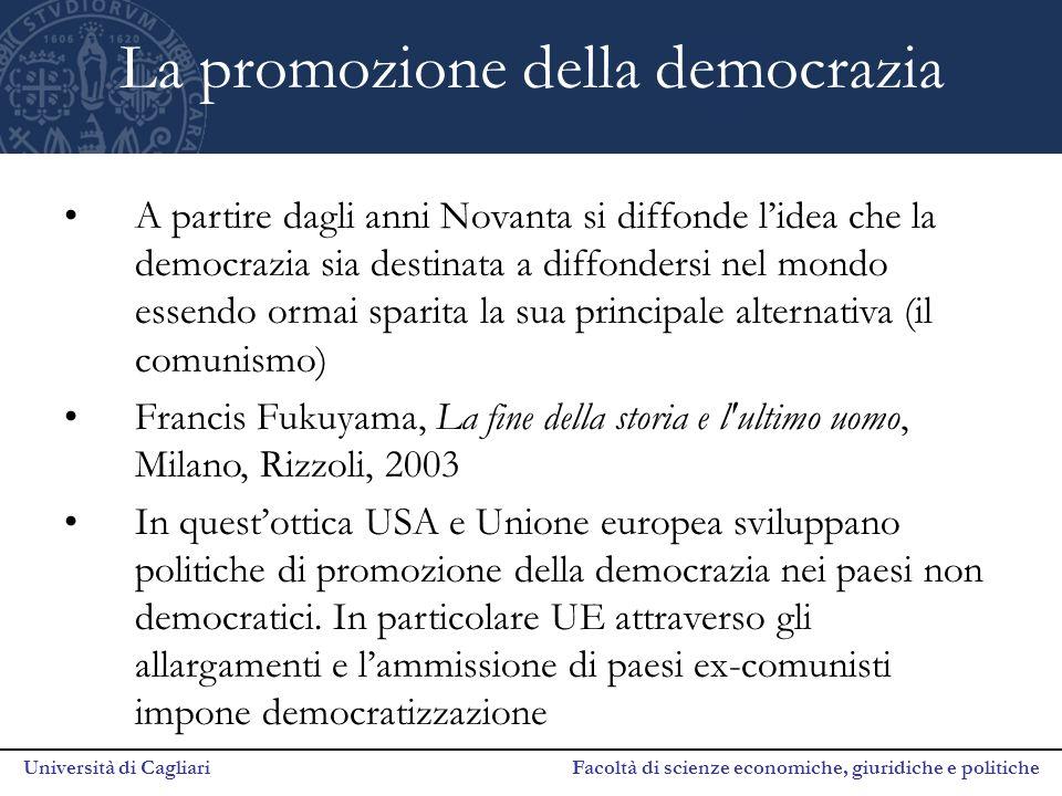 La promozione della democrazia