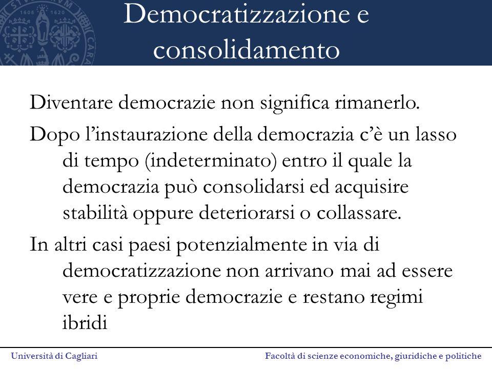 Democratizzazione e consolidamento