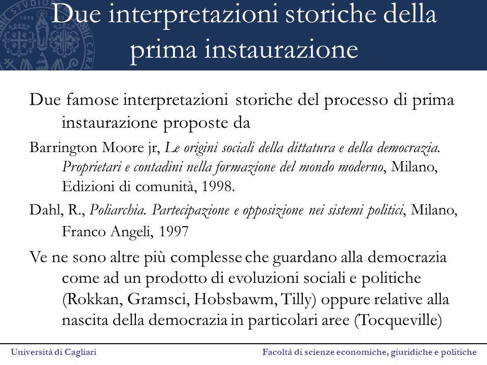 Due interpretazioni storiche della prima instaurazione