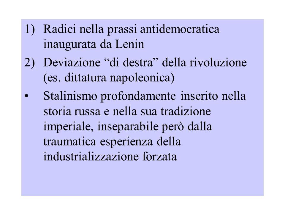 Radici nella prassi antidemocratica inaugurata da Lenin
