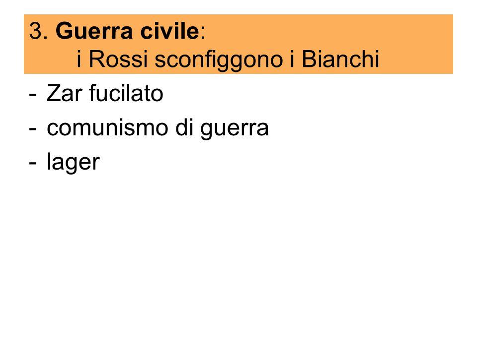 3. Guerra civile: i Rossi sconfiggono i Bianchi
