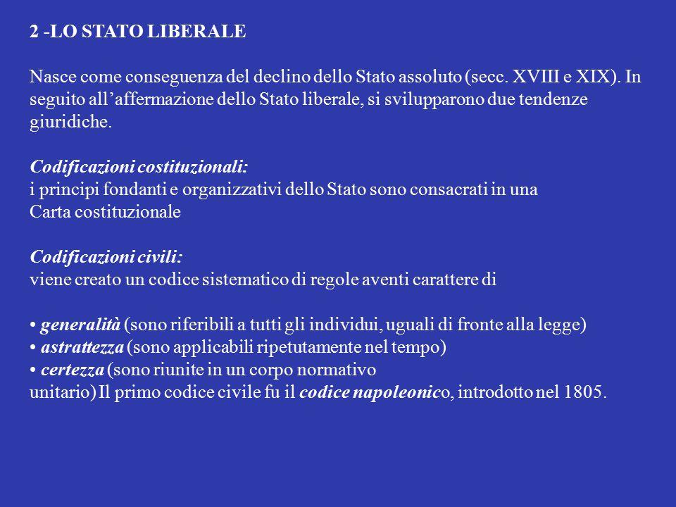 2 -LO STATO LIBERALE