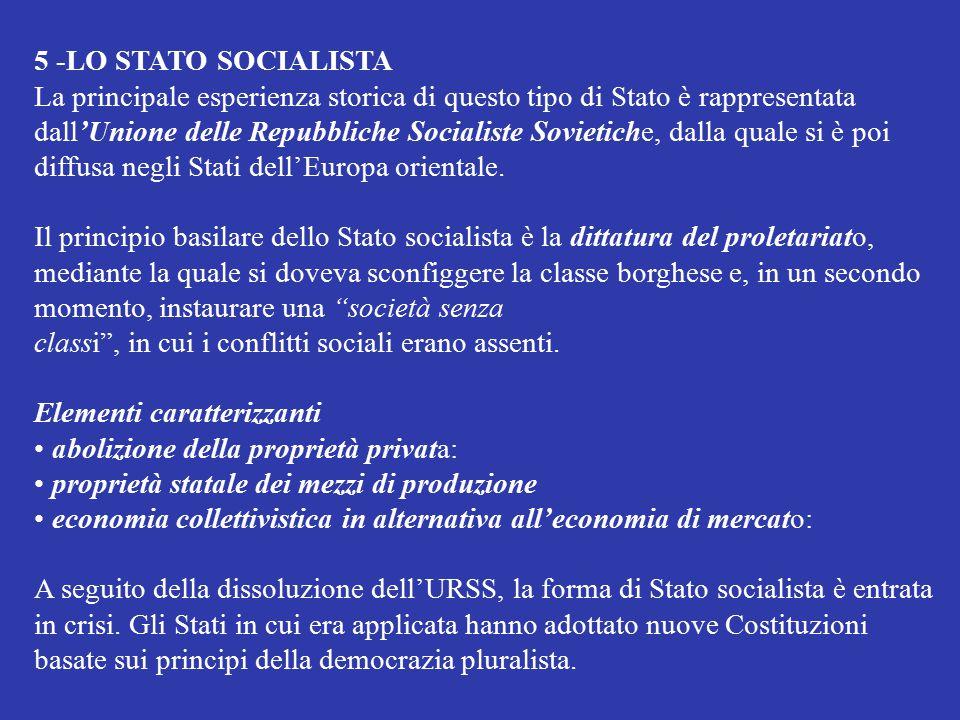 5 -LO STATO SOCIALISTA