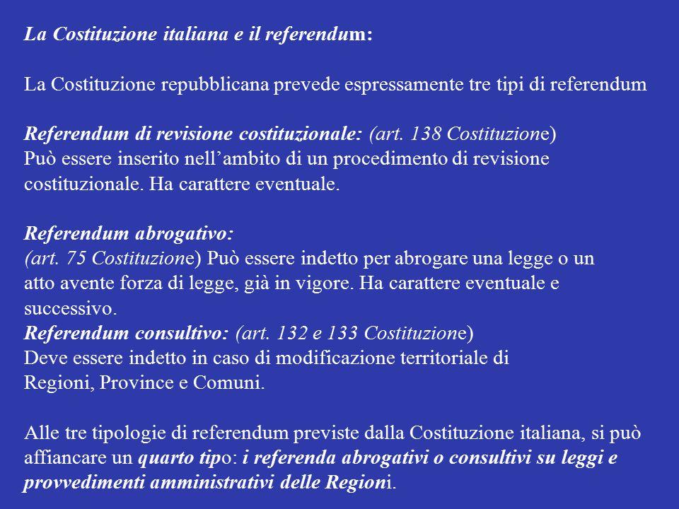 La Costituzione italiana e il referendum: