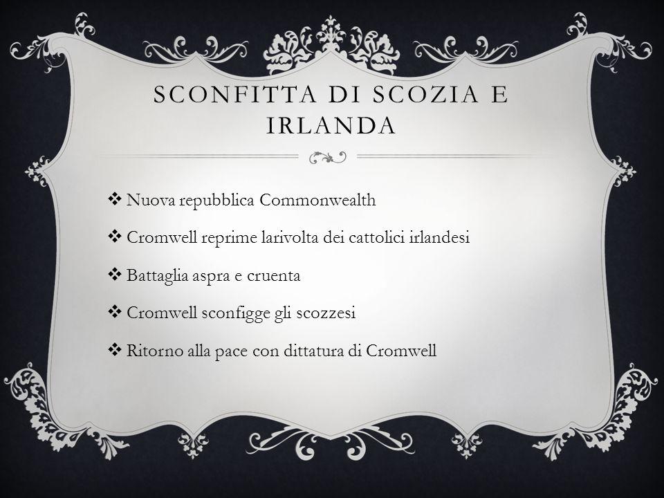 ScONFITTA DI SCOZIA E IRLANDA
